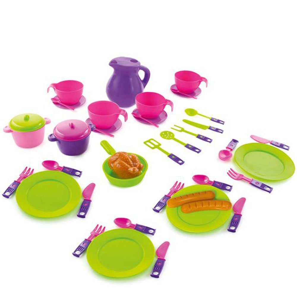 Play Cutlery Cups Plates Tea Set Toy